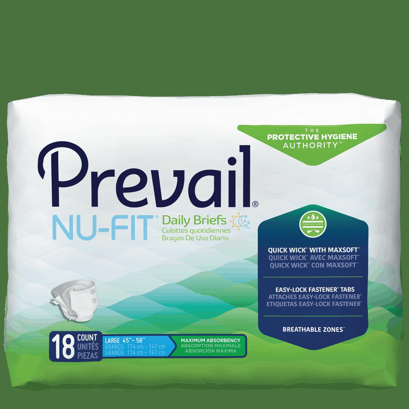 Prevail NU-FIT Adult Briefs Maximum Absorbency underwear
