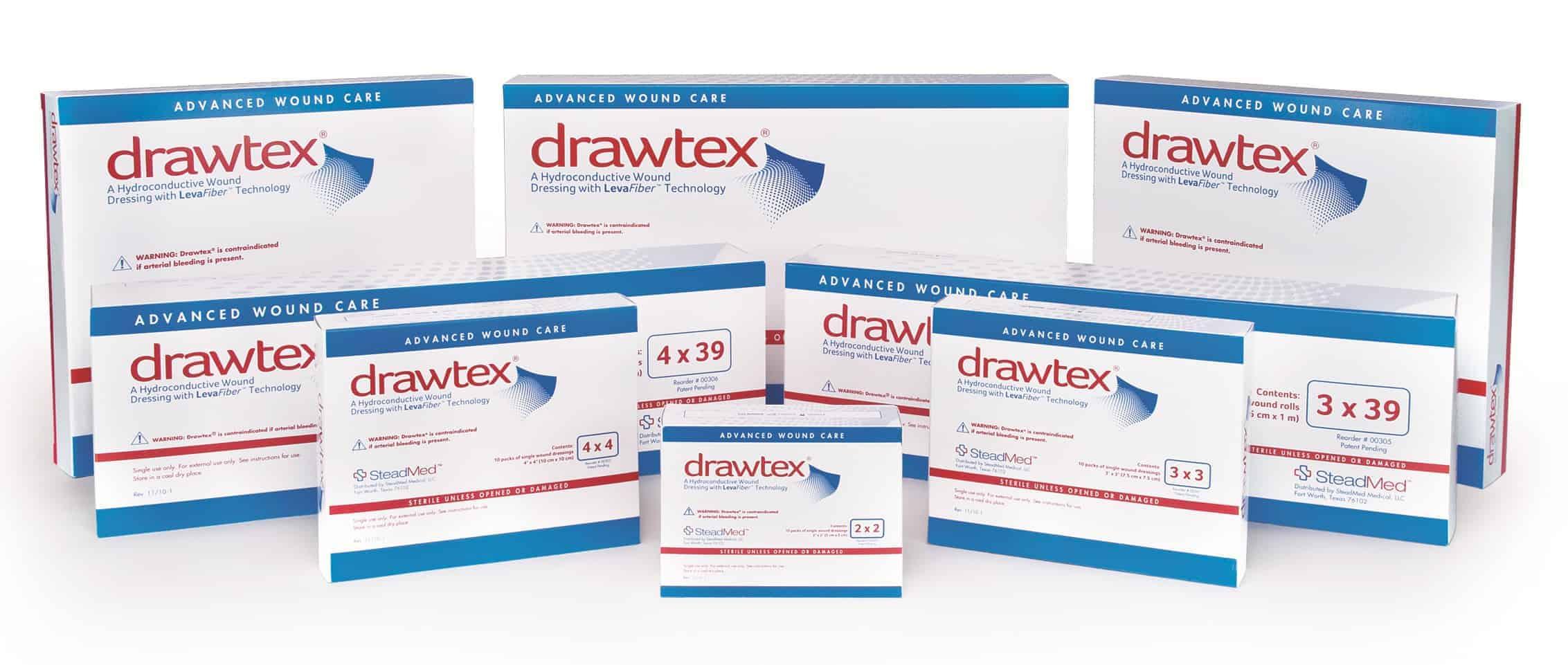 Drawtex Non-Adherent Dressing With LevaFiber
