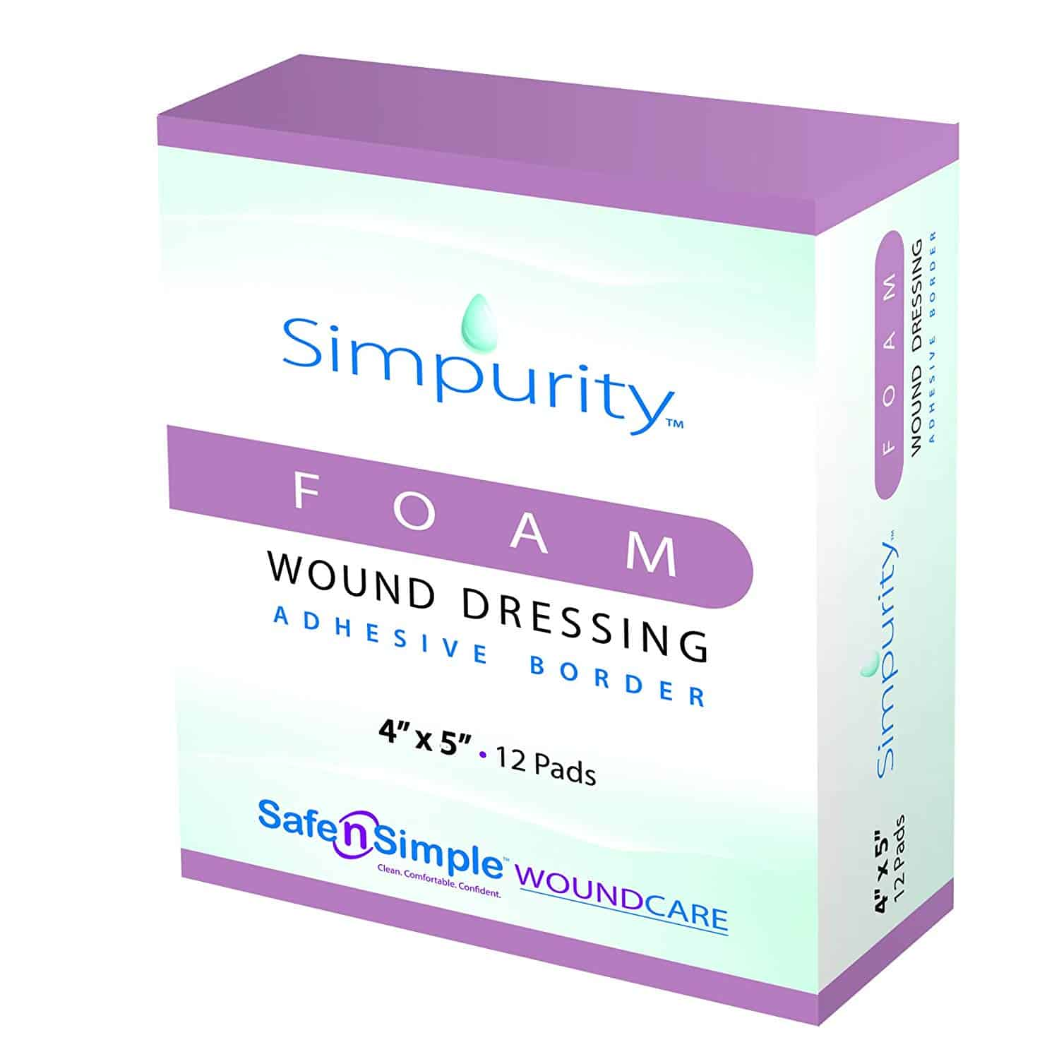 Simpurity Foam Wound Dressings with Border