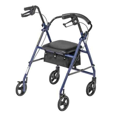"""Drive Steel Patient Rollator, with 6"""" Wheels, 300 lb Weight"""